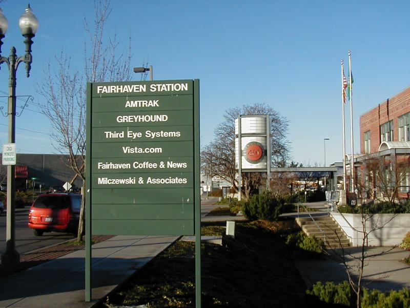 Bellingham Station sign